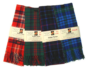 Beautiful Welsh Tartan Scarves!! 100% Lambs Wool Milled in Wales! Available in dozens of Welsh tartans.