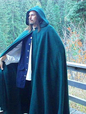 Mens Handmade Authentic Medieval / Renaissance Period Heavy Wool Winter Cloak!