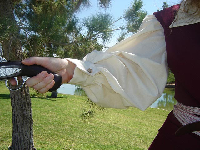 Renaissance and Medieval costumes! Lady Pirate Outfit -- Sea Jerkin, Tunic, Sash, and Pirate Pants
