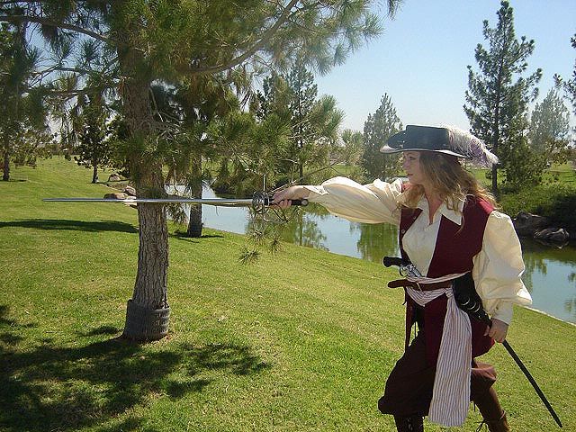 Renaissance and Medieval costumes! Anne Bonny Pirate Outfit -- Sea Jerkin, Tunic, Sash, and Pirate Pants