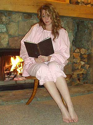 Beautiful Bloomers! Enjoy the comfort and convenience of Lady Rose's Beautiful Renaissance Bloomers--Pictured: Pink Flannel Bloomers