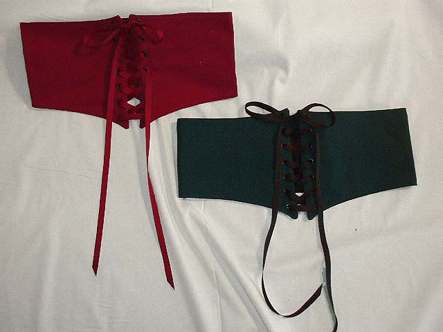 Handmade Wenches Waist Cinchers!! The perfect way to show off your curves and give your Medieval or Renaissance Period Costume a splash of color!