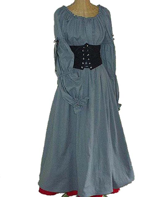 SexyRenaissance Festival German Maiden Outfit with Full Length Chemise in Linen or Cotton, Gored Under Skirt and Waist Cinch!!