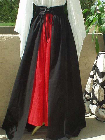 Renaissance Noble Skirt, M'Lady Sasha's Gored Panel Overskirt