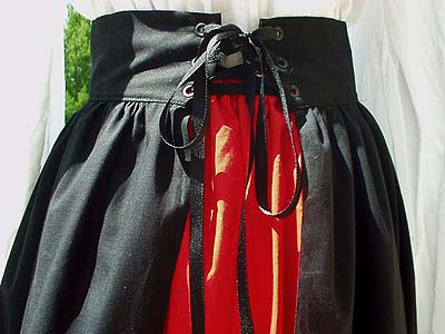 Renaissance Hoop Skirts, Lady Sasha's Gored Overskirt