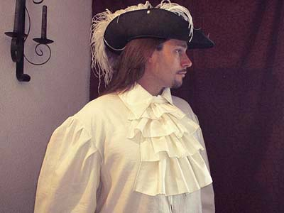 Shirt with Neck Jabot -- The ideal shirt for the rogue, renegade, outlaw, artisan, merchant, noble, or sell sword of the high middle ages and renaissance!