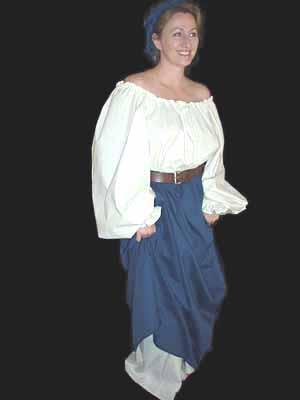 Renaissance Skirts, Lady Rose's Navy Blue Peasant Skirt