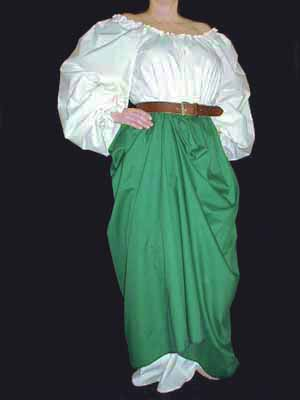 Renaissance Skirts, Lady Rose's Forest Green Peasant Skirt