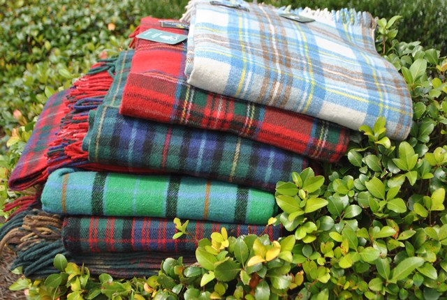 Beautiful Lightly Brushed Scottish Tartan Blankets!! 100% Lambs Wool Milled in Scotland! Available in Authentic Scottish Clan tartans.