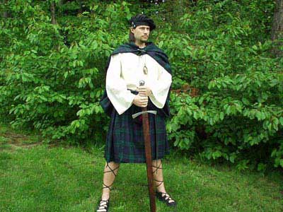 Medieval Scottish Highlander Great Kilts in 100% Wool milled and imported from Scotland!
