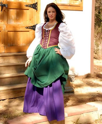 The Highest Quality Hand Crafted Noble / Ladies Twill Cotton Bodices in Your Choice of Color and Size to complete your SCA, Middle Ages, or Renaissance Faire Period Costume!!!