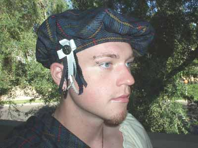 Authentic Scottish Highlander Tam oShanter of ancient and medieval Scotland. Made to fit. 100% Wool, lined in satin, imported from the Scotland's finest wool mills!