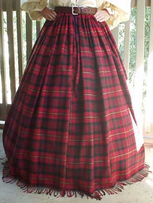 Scottish and Celtic Clothing, Morrigan Scottish Clan Tartan Wool Skirt!