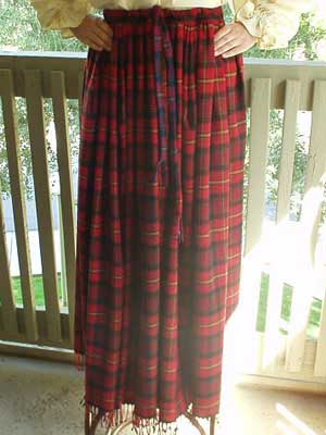 Scottish and Celtic Clothing, Lady Morrigan's Clan Tartan Wool Skirt