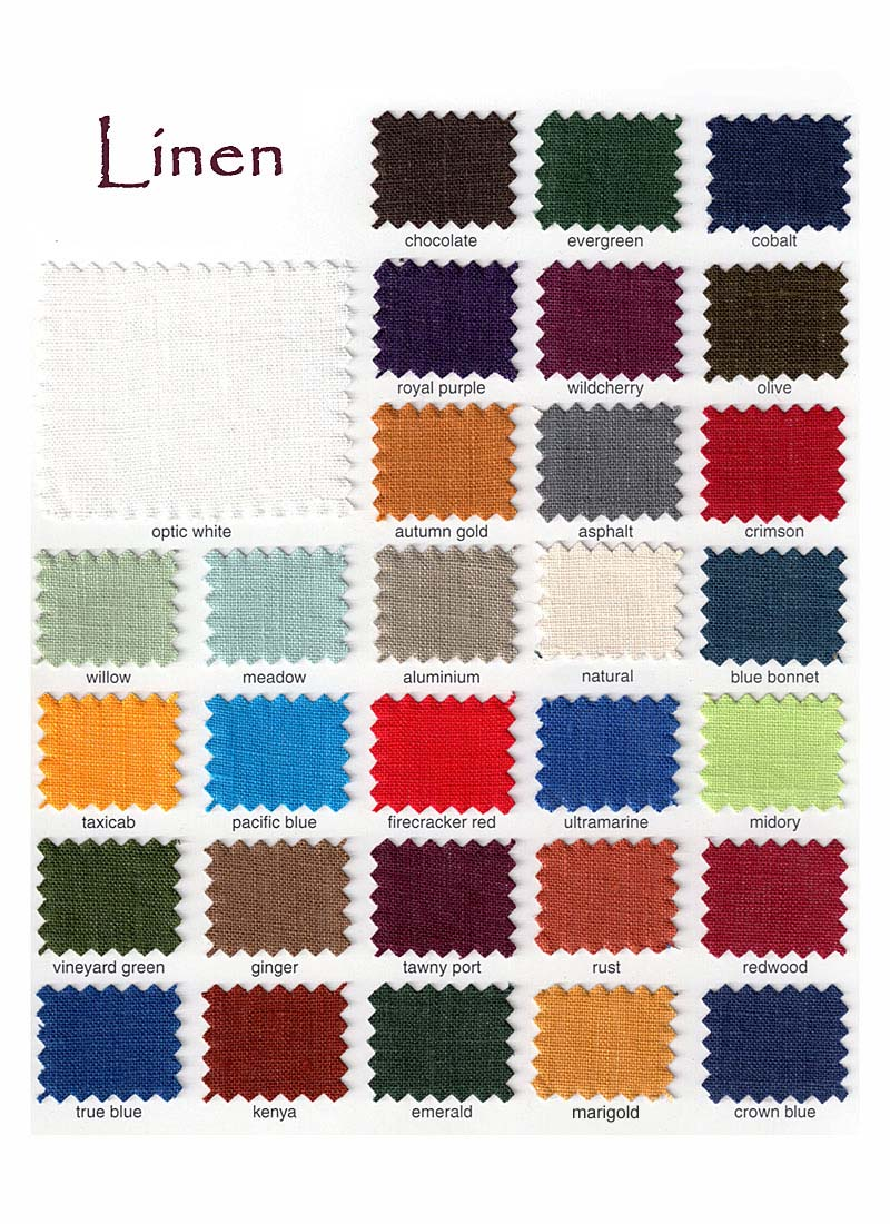 Click Our Linen Swatch Card