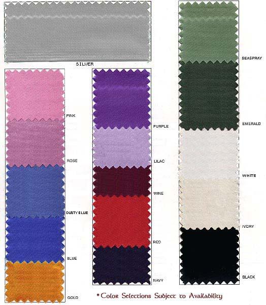 Satin Color Choices