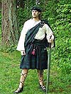 Highly Authentic (c. 1000 - 1460) Scottish Highlander Ensemble with 100% Worsted Clan Tartan Wool Kilt, Linen or Cotton Tunic, Leather Kilt Belt, and Matching Tam o Shanter!!!