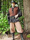 Franco-English Renaissance Period Ensemble for a Highwayman / Cavalier / Mercenary / Commoner / Pirate with Gathered and Yoked Poet Shirt, Short Jerkin in Heavy Twill or Microseude, Leather belt, and Pants in Your Choice of Fabric and Color!!!