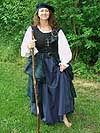 Early Renaissance Period Scottish Highland Arisaidh (c. 1460 - 1600) with Full Length Chemise in Linen or Cotton, Heavy Twill Bodice, Four Gored Skirt, and Tam o Shanter!!