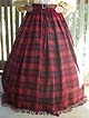 One Size Fits All! Late Renaissance Period Scottish Highland Four-Gored Skirt in 100% Worsted Clan Tartan Wool!!